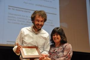 Pérez Colomé, ganando el Premio Porquet